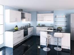cuisine blanche et bleue cuisine bleue peignez vos murs en bleu pâle pour faire