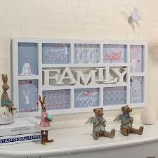 yazi white family plastic wall hanging collage picture photo frame