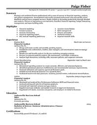 Financial Analyst Resume Objective 10 Top Example Resumes Recentresumes Com
