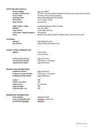 artist management contract template artist management contract