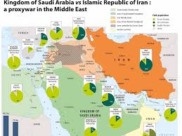 Kuwait On A Map Map Of Saudi And Iran Proxy War Business Insider