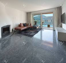 living room living room marble interior of house modern living room marble floor stock photo