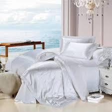 White Silk Bedding Sets Silk Bed Sheets New Satin Sheet Set Ebay Chevalier Bedding