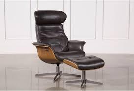 Swivel Chair And Ottoman Amala Grey Reclining Swivel Chair Ottoman Living Spaces