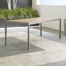 outdoor rectangular dining table save on outdoor patio dining furniture crate and barrel