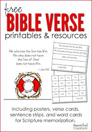 bible verse printables resources