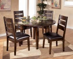 Round Glass Top Dining Room Tables by Round Glass Top Dining Table Set W 4 Wood Back Side Chairs Eva