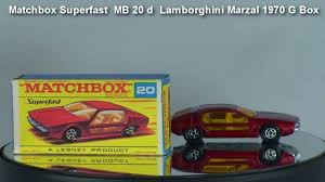 matchbox lamborghini lamborghini marzal matchbox superfast mb 20 d 1970 g type box