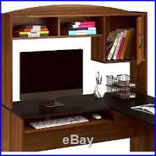 Home Computer Desk Hutch Computer Desk Hutch L Shaped Brown Home Office Student Workstation