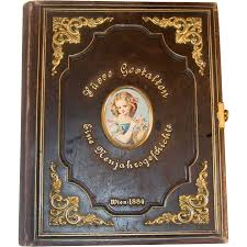 leather bound photo book antique box tooled leather bound book ormolu decoration from