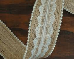 rustic ribbon 2 1 2 inch burlap ribbon with white lace edge rustic wedding