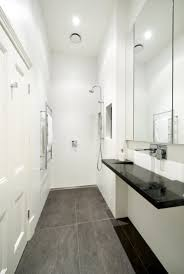 small narrow bathroom layouts with shower tiny modern bathroom