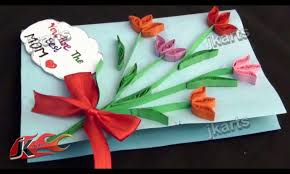diy paper quilling greeting card for mother u0027s day teacher u0027s day