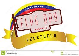 Venezual Flag Venezuela U0027s National Day Flag Day Stock Vector Illustration Of