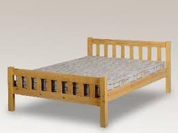 seconique 4ft sol small double antique pine bed frame small