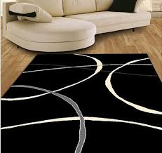 Modern Black Rug Contemporary Terra Rug