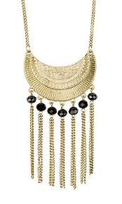 new necklace collection images New boho long gold antiqued necklace with fringe and jpg