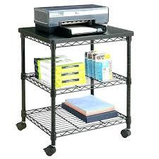 Computer Desk Mobile Desk Rolling Cart Rolling Printer Stand Desk Rolling