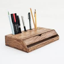 Desk Organizer Shelf by Vintage Walnut Wood Desk Organizer U2013 Crowdyhouse