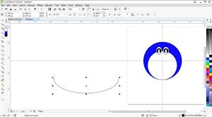 tutorial gambar kepala doraemon how to draw doraemon with corel draw x7 youtube