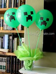 minecraft balloons minecraft birthday party jonesing2create