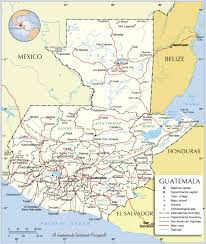 Un Map Administrative Map Of Guatemala Nations Online Project