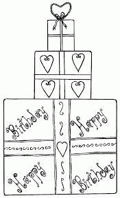 gift coloring page kids coloring