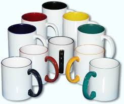 logo coffee mugs with color trim personalized