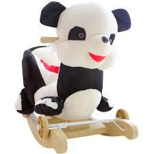 siege a bascule bebe kingtoy en peluche bébé bascule swing président panda enfants bois