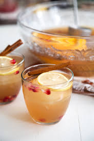 ginger apple ginger punch with bourbon the little epicurean