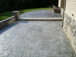 Slate Patio Designs How To Create Slate Pattern Sted Patio Ideas For Your House