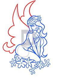 how to draw a flower fairy step by step by darkonator drawinghub