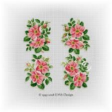 cross stitch patterns by ems design floral motif series