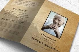 funeral program paper cardboard style funeral program brochure templates creative market