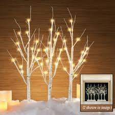 christmas branches with lights led lighted birch branches with stand from collections etc