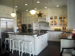 kitchen kitchen counter height island dark hardwood floors with
