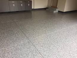 oil resistant and decorative epoxy flake garage floor coating in