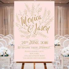 pink and gold wedding invitations blush pink and gold wedding signs woodland enchanted forest