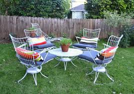 Modern Metal Outdoor Furniture Mid Century Patio Set Icamblog