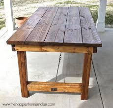 wood patio table plans diy pottery barn inspired dining table the happier homemaker