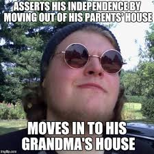 Moving Out Meme - asserts his independence by moving out of his parents house moves