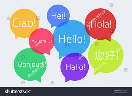 colored speech bubbles text hello different stock vector 672150601