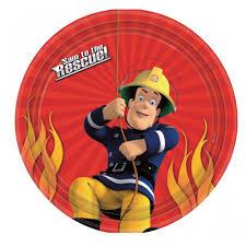 fireman sam paper party plates fireman sam