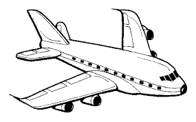 plane colouring pages funycoloring