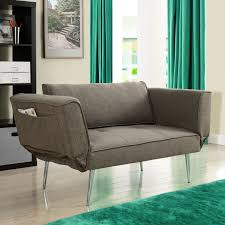 Sofa Beds With Mattress by Modern Euro Style Futon Sofa Bed With Metal Legs In Gray