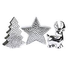 Silver Reindeer Christmas Tree Decorations silver reindeer tree decorations ebay