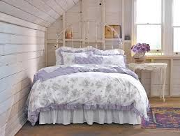 Shabby Chic Floral Bedding by White Painted Wood Plank Walls And Ceiling In Bedroom Shabby Chic