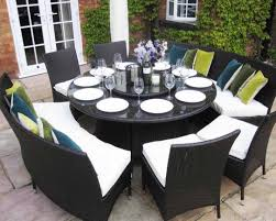 table notable outdoor dining table seats 8 impressive square