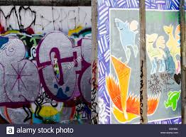 berlin wall sections graffiti street art berlin wall sections tags stock photo royalty