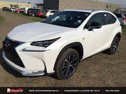 sporty lexus 4 door new white 2015 lexus nx 200t awd f sport series 2 review alberta